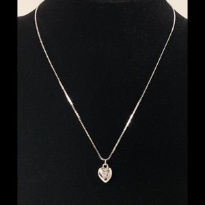Napier Silver Puffed Heart Necklace